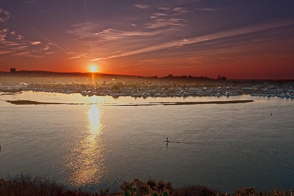 Newport Beach city panorama